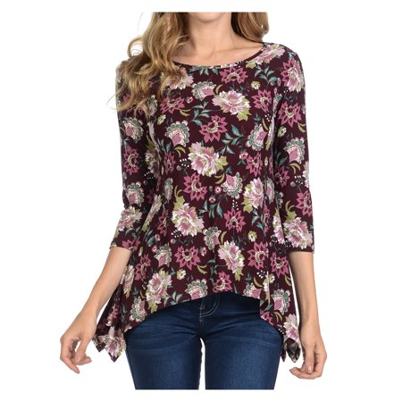 Basico Comfy Loose Fit Long Sleeve Crew Neck Knit T-Shirts Tops Blouses