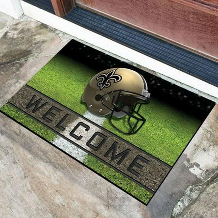 New Orleans Saints Crumb Rubber Door Mat (New Orleans Saints Decor)