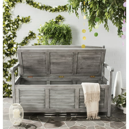Safavieh Brisbane Indoor/Outdoor Modern Storage Bench ()