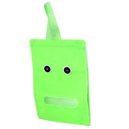Unique Bargains House Button Accent Plush Paper Facial Tissue Napkin Dispenser Holder Green