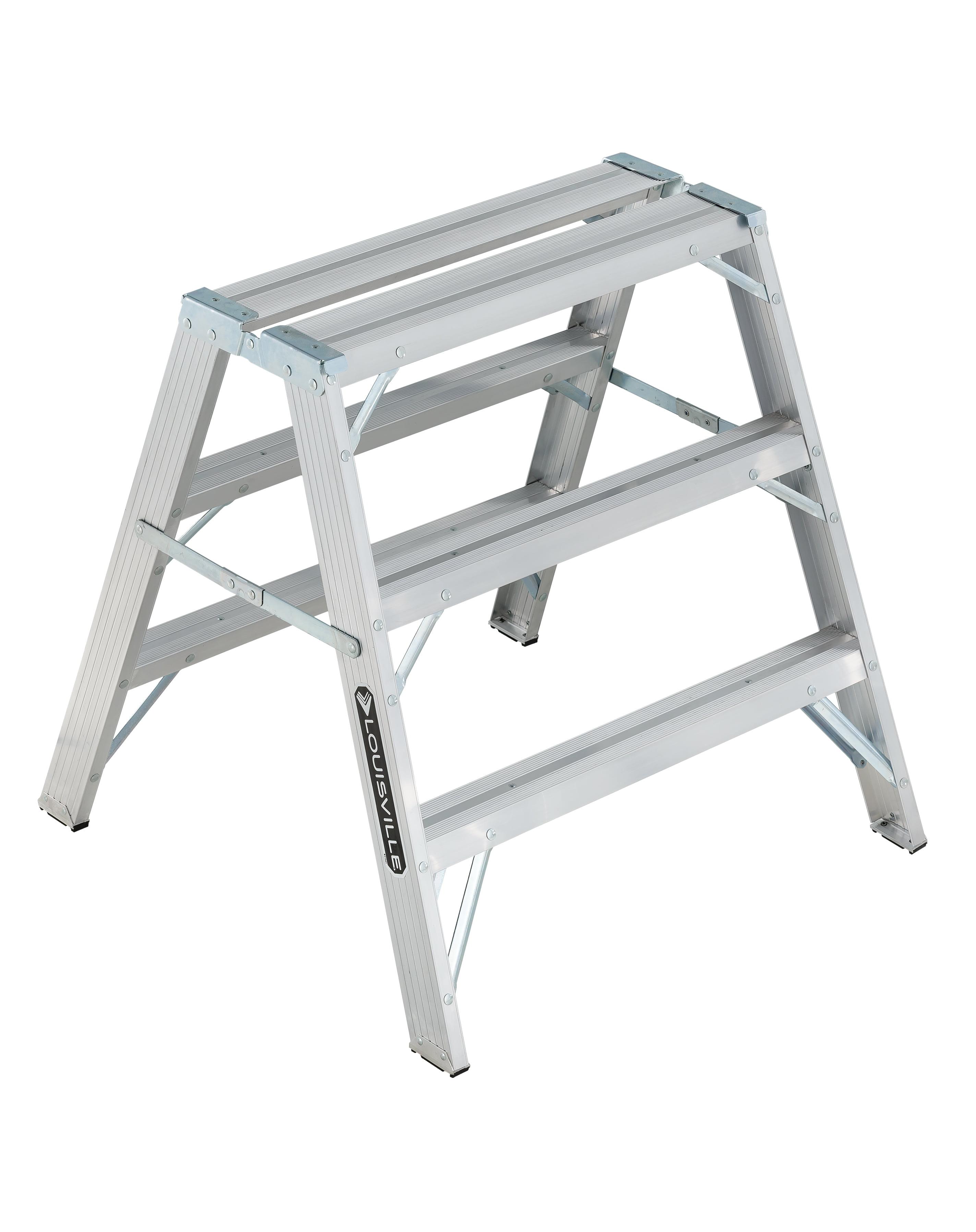 Louisville Ladder L-2032-03 3 ft. Aluminum Sawhorse Ladder, Type IA, 300 lbs. Load... by Louisville Ladder