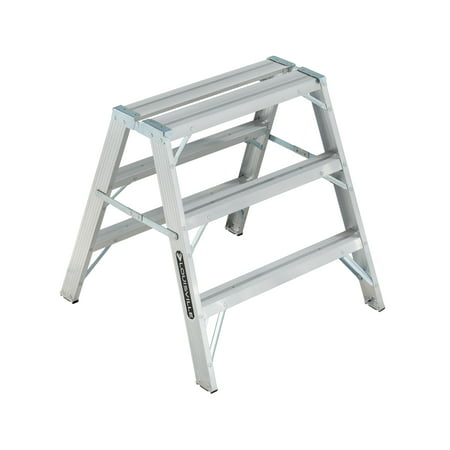 Louisville Ladder L-2032-03 3 ft. Aluminum Sawhorse Ladder, Type IA, 300 lbs. Load Capacity