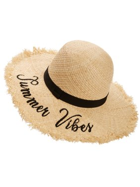 0d2196dd641971 Product Image Time and Tru Women s Summer Vibes Raw Edge Floppy Hat