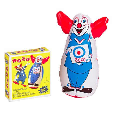 Bozo The Clown Inflatable 7 Finger Bop Punching Bag