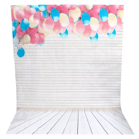 5x7ft Lovely Ballons Digital Studio Backdrops Photography Photo Background Props - image 1 of 5