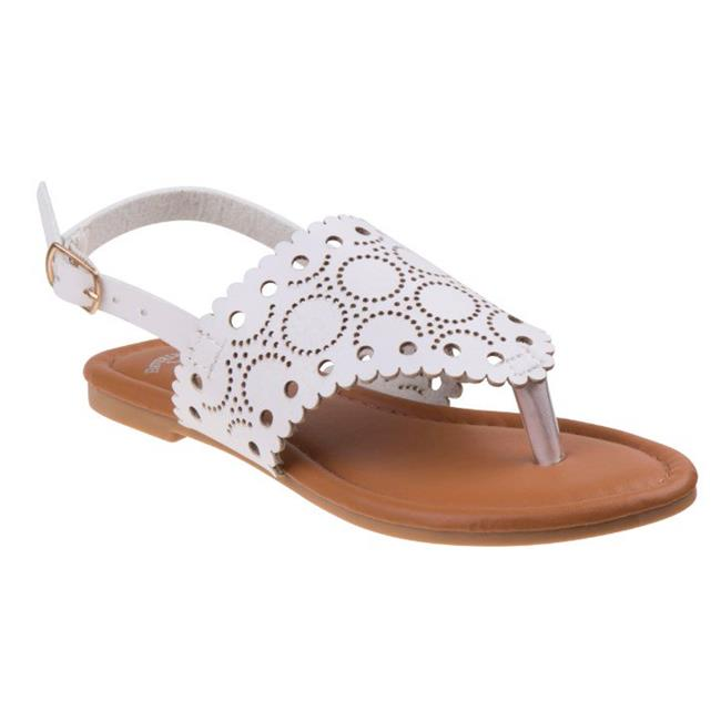 Girls Thong Sandals - White - Size