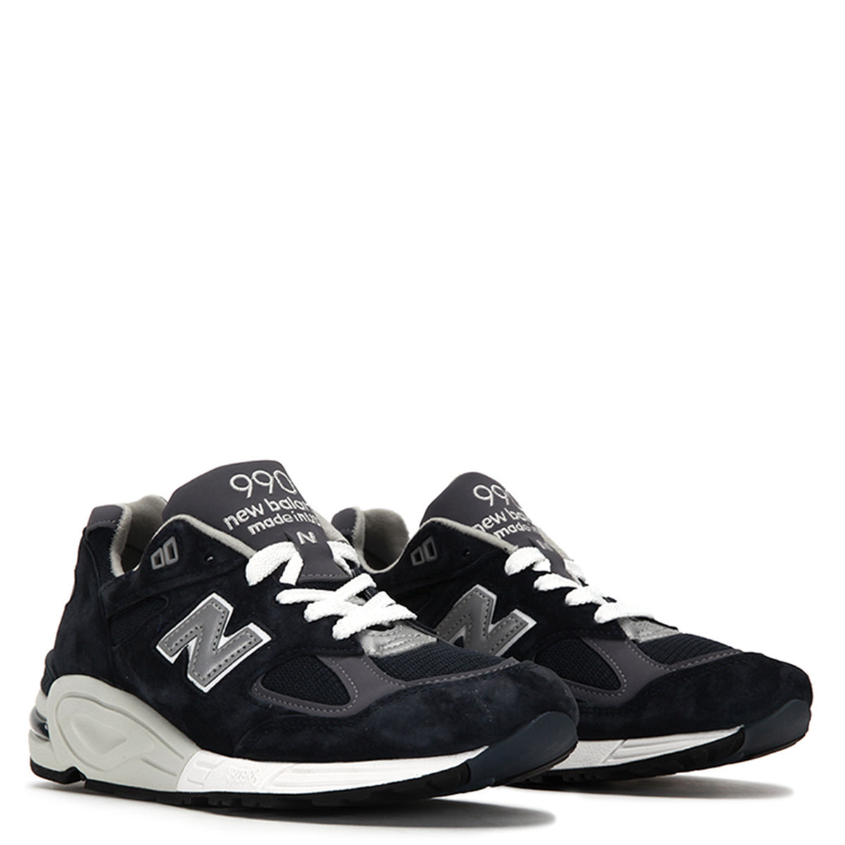New Balance Men's 990v2 Made In USA Sneakers M99NV2 Navy by