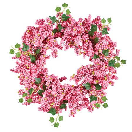 Pink Berries and Twigs Wreath - Seasonal Window or Door Accent for Any Room in Home](Summer Door Wreath)