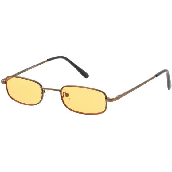 a0ce109d463 sunglass.la - 90 s Small Rectangle Sunglasses Slim Arms Color Tinted ...