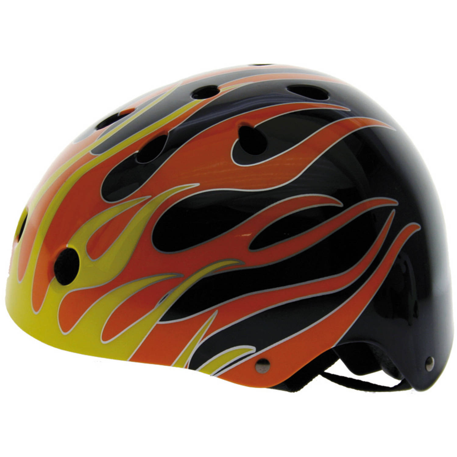 Ventura Freestyle Bike Helmet with Flame Design, Medium