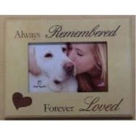 dog memorial picture frame: always remembered - forever - Dog Photo Frame