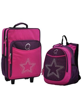 70e981c4ee0b Product Image Kids  Rhinestone Star  2-piece Backpack and Carry On Upright  Luggage Set