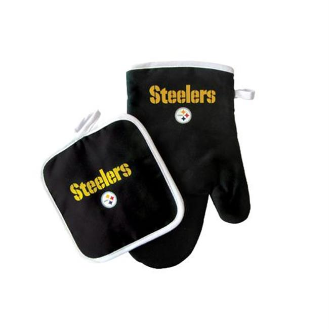 Pittsburgh Steelers NFL Oven Mitt and Pot Holder Set by Pro Specialties Group