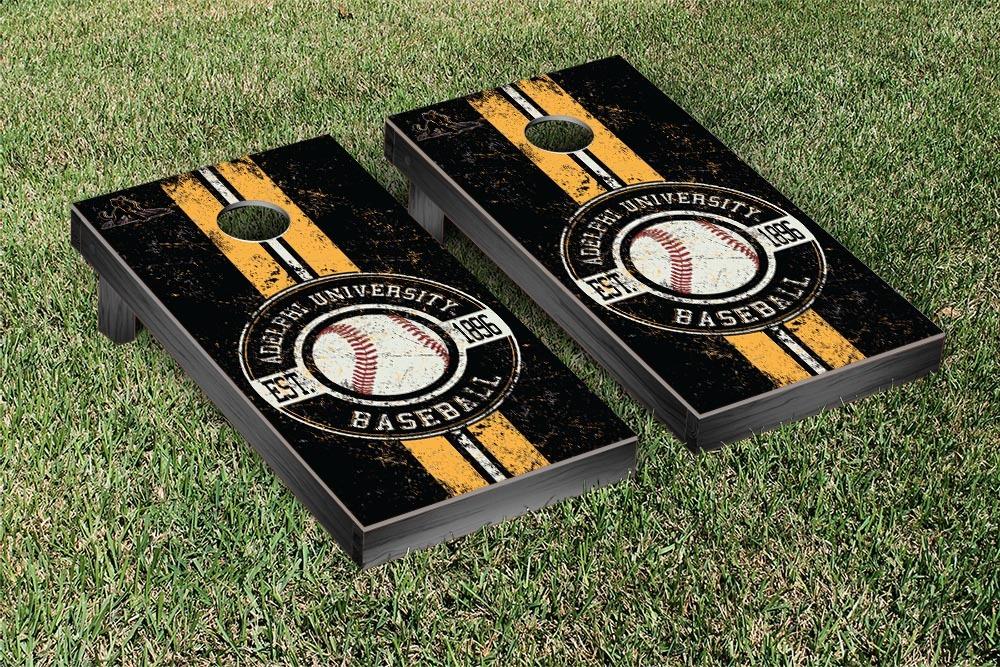 Adelphi Panthers Regulation Cornhole Game Set Baseball Version by Victory Tailgate