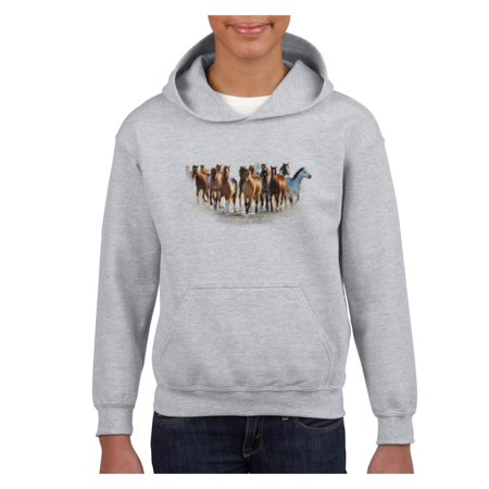 Wild Horses Heard Unisex Hoodie For Girls and Boys Youth - Mn Wild Hoodie