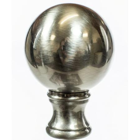 Solid Sphere Finial Brushed Nickel 1.75