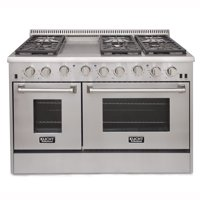 KUCHT Professional 48 in. 6.7 cu. ft. Natural Gas Range with Sealed Burners, Griddle and Convection Oven in Stainless Steel