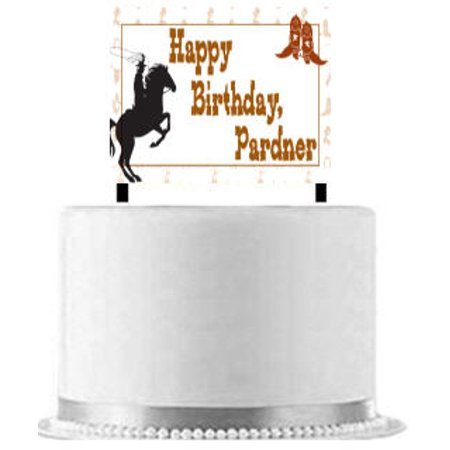 Cowboy Cake Decoration Banner](Cowboy Cake)