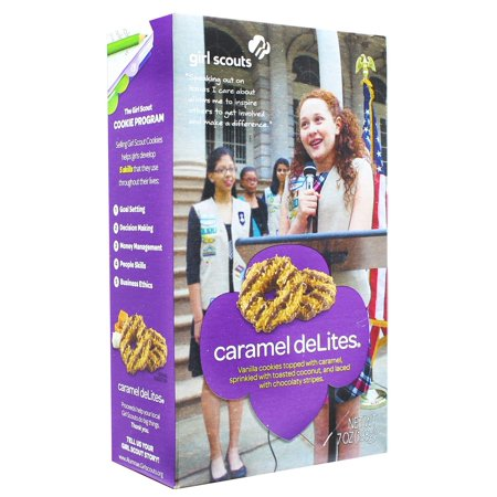 - Girl Scout Carmel deLites Cookies 7 Ounce Box