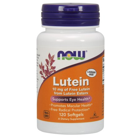 NOW Supplements, Lutein 10 mg with 10 mg of Free Lutein from Lutein Esters, 120