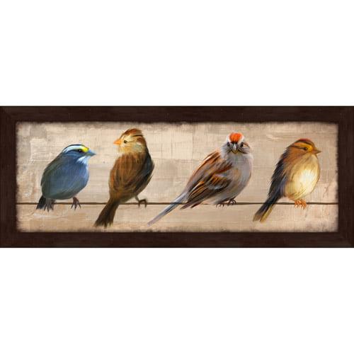 """Pro Tour Memorabilia Birds in a Row I Framed Artwork 23.5""""x9.5"""