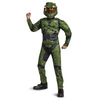 Halo Boys Classic Master Chief Infinite Muscle Halloween Costume Exclusive