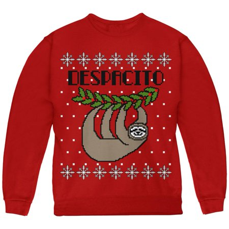 Sloth Christmas Sweater.Despacito Means Slowly Sloth Funny Ugly Christmas Sweater Youth Sweatshirt