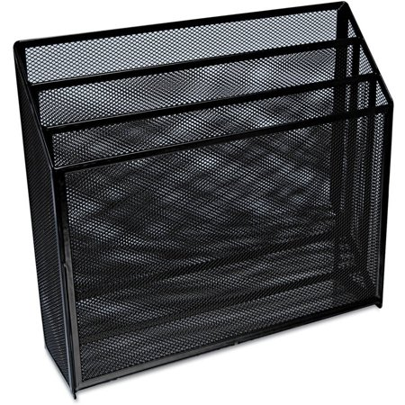 Universal one mesh three tier organizer black - Black mesh desk organizer ...