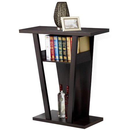 Yaheetech V Console Sofa Entry Table Hall Furnishings, Espresso