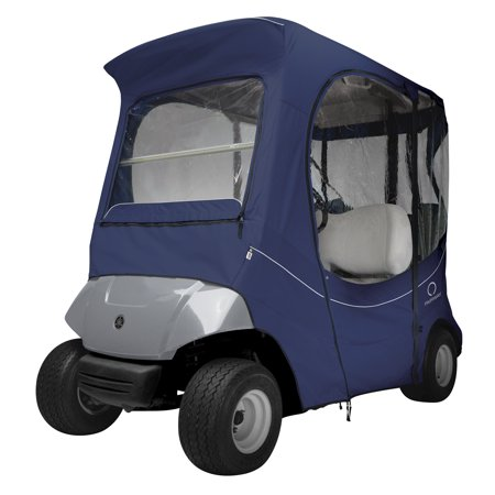 Classic Accessories Fairway Short Roof 2-Person FadeSafe The Drive by Yamaha Golf Cart Enclosure, Navy News