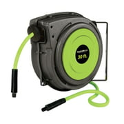 "Flexzilla® Enclosed Plastic Retractable Air Hose Reel, 3/8"" x 30'"