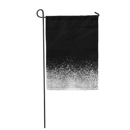 Gradient Dots - LADDKE Dot Spray Detail in White Over Black Pattern Gradient Garden Flag Decorative Flag House Banner 12x18 inch