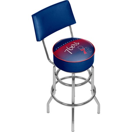 Philadelphia 76ers Hardwood Classics Bar Stool with Back by