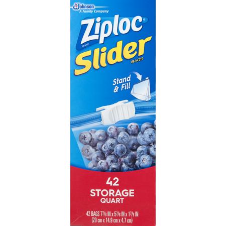 Ziploc Slider Storage Bags Quart 42 Count Best