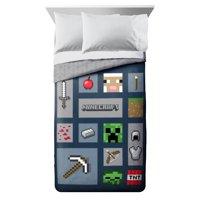 Minecraft Icon Adventure Twin/Full Comforter Set