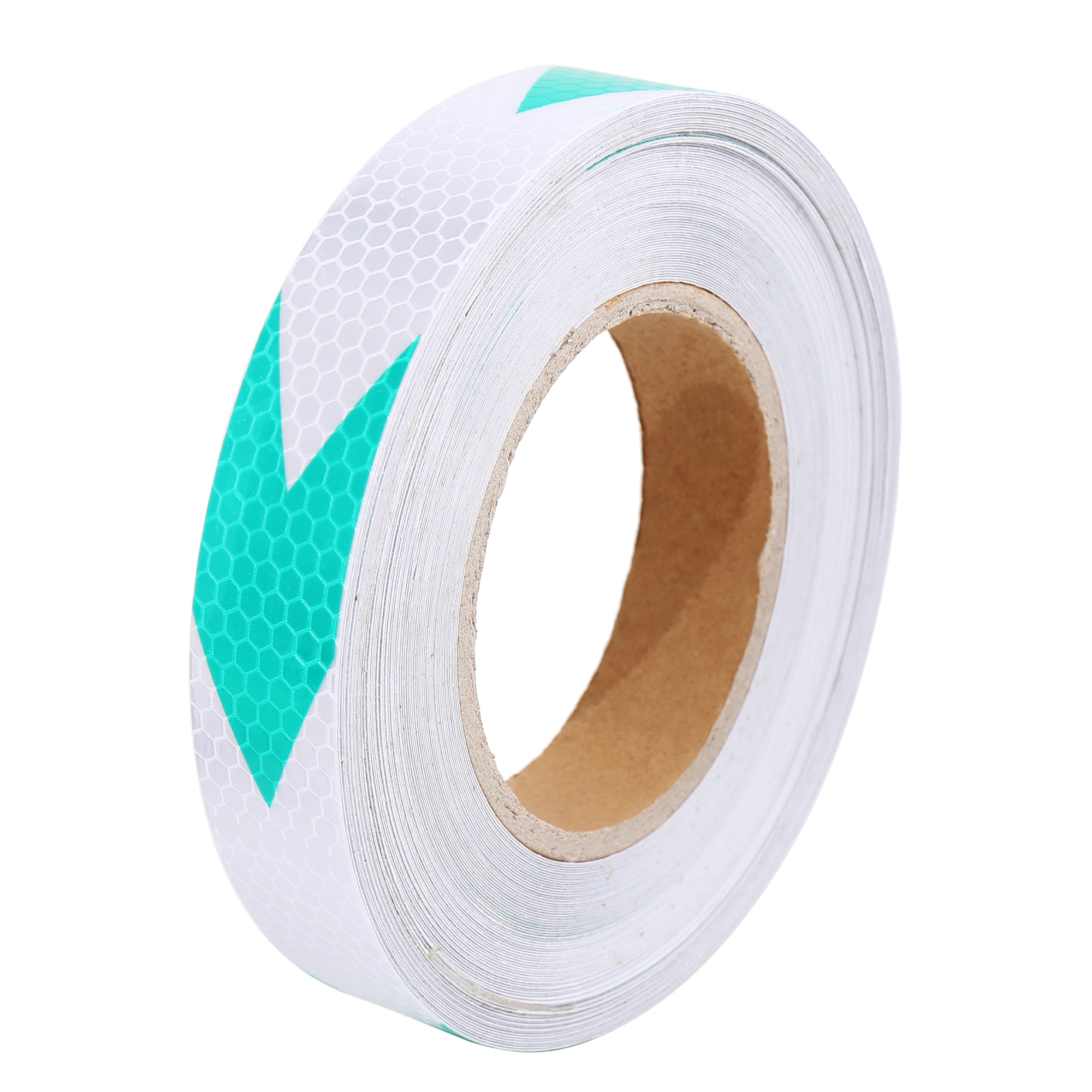 25M Green Sliver Tone Vehicle Arrow Pattern Reflective Sticker Tape Strip - image 3 of 3