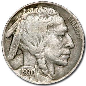 1930 Buffalo Nickel Good+