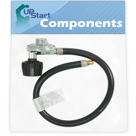 """BBQ Gas Grill Propane Regulator Hose Replacement Parts for Weber TARGET-GENESIS 1000 LP - Compatible Barbeque 21"""" Hose And Regulator With 1/8 NPT Male Thread With QCC1 Connection"""