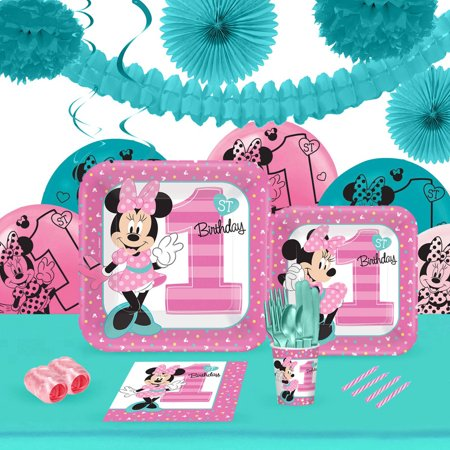 Disney Minnie Mouse 1st Birthday 16 Party Pack