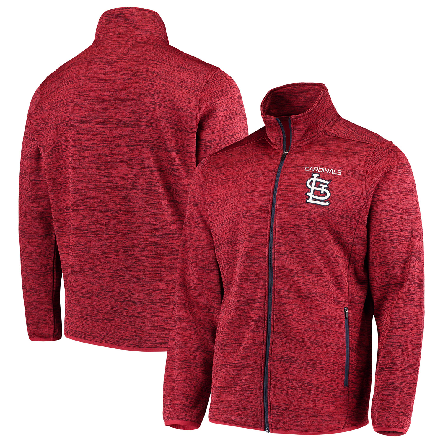 St. Louis Cardinals G-III Sports by Carl Banks High Jump Transitional Full-Zip Jacket - Red