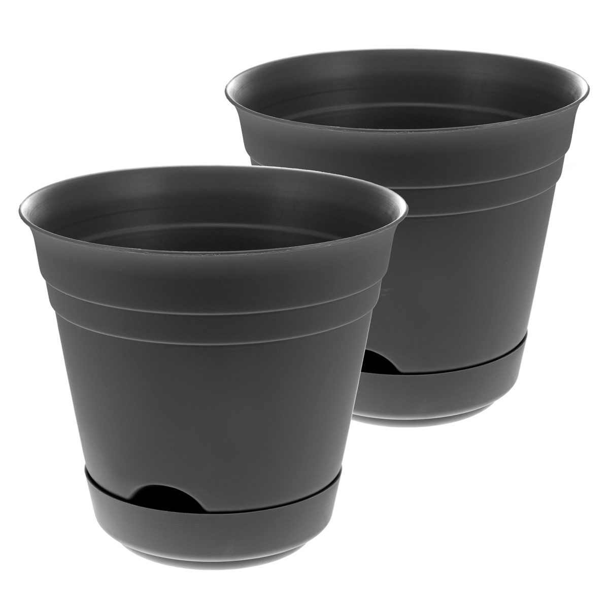 2 Self Watering Planters Indoor/Outdoor 7u201d Plastic Patio Garden Flower Herb  Pots