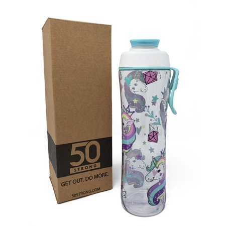 Louisiana Tech Bulldogs Bottle (BPA Free Gym Water Bottle with Ice Guard Flip Top Cap & Carry Loop - Cute Designer Prints - Perfect for Men, Women, Sports & Workout - 24 oz. - Unicorn )