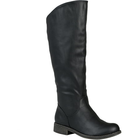 Brinley Co. Women's Wide Calf Slouchy Round Toe Boots ()