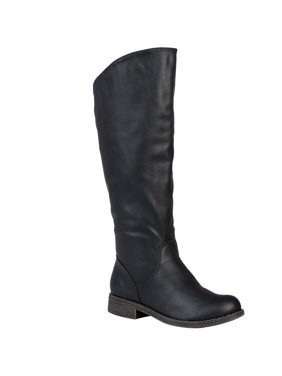 Women s Wide Calf Slouchy Round Toe Boots. Product Variants Selector. Black aeaf30ea5