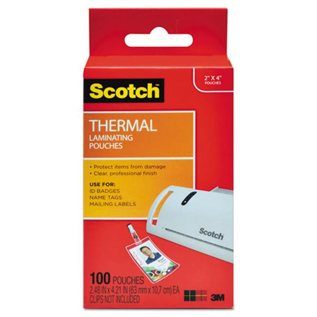 3M & Commercial Tape Div TP5852100 ID Badge Size Thermal Laminating Pouches, 5 mil.