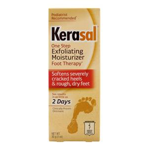 Kerasal One Step Exfoliating Foot Moisturizer Therapy Ointment  1 oz, 1 Count