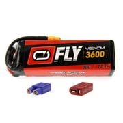Venom Fly 30C 6S 3600mAh 22.2V LiPo Battery with UNI 2.0 Plug (XT60/Deans/EC3) - Compare to E-flite EFLB40006S30