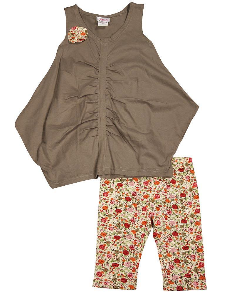 Mish - Little Girls 2-Piece Capri Set Brown / 4