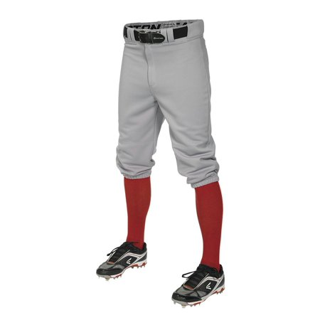 Easton PRO+ Knicker Style Boys Baseball Pant - Grey - Size Large