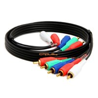 Cmple Component Video Audio Cable 5 RCA Gold HDTV RGB YPbPr  3 FT